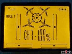 drone radiocommande selection de vitesse