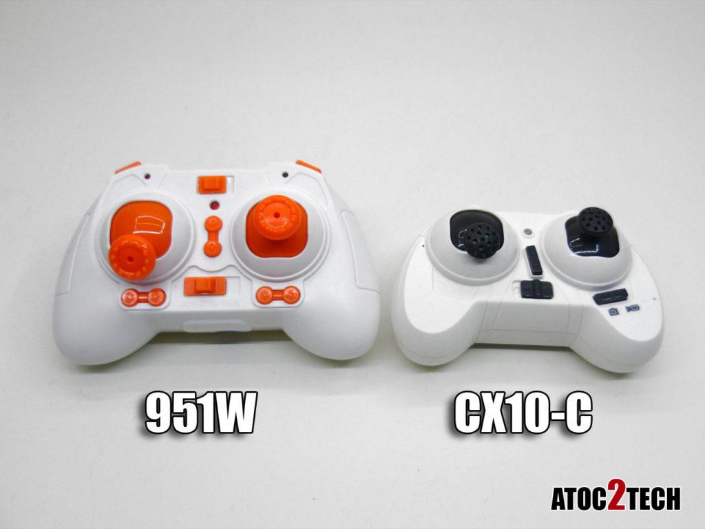 Comparaison 951w radiocommande vs cx10