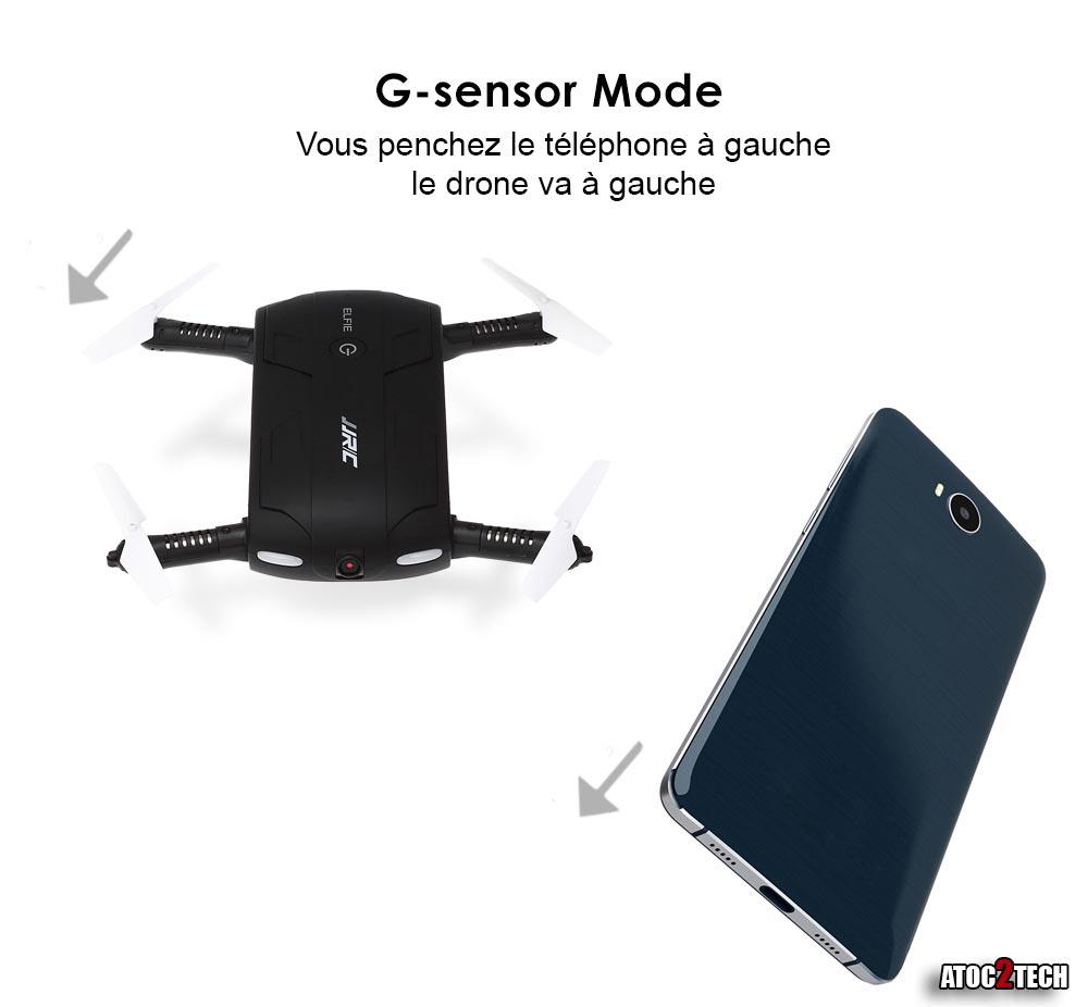 Drone selfie Gsensor