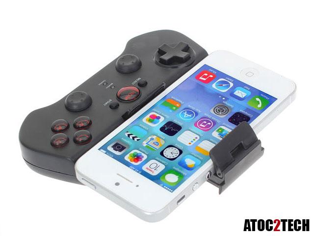iphone manette de jeu bluetooth avec support d cran moins de 30. Black Bedroom Furniture Sets. Home Design Ideas