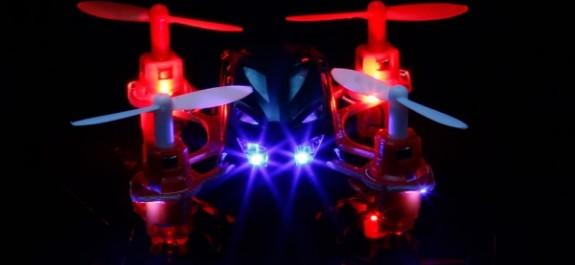 drone led allume
