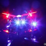 drone led nuit
