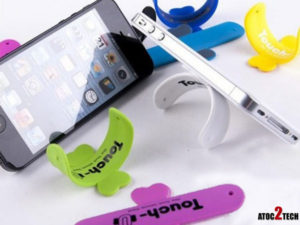 mini support adhesif pour téléphone