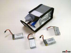 sac safe ignifuge pour batterie lipo