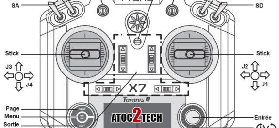 taranis qx7 nom des boutons