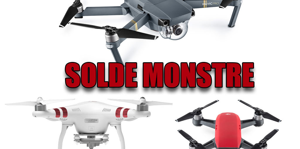 drone dji solde monstre mavic pro phantom et spark. Black Bedroom Furniture Sets. Home Design Ideas