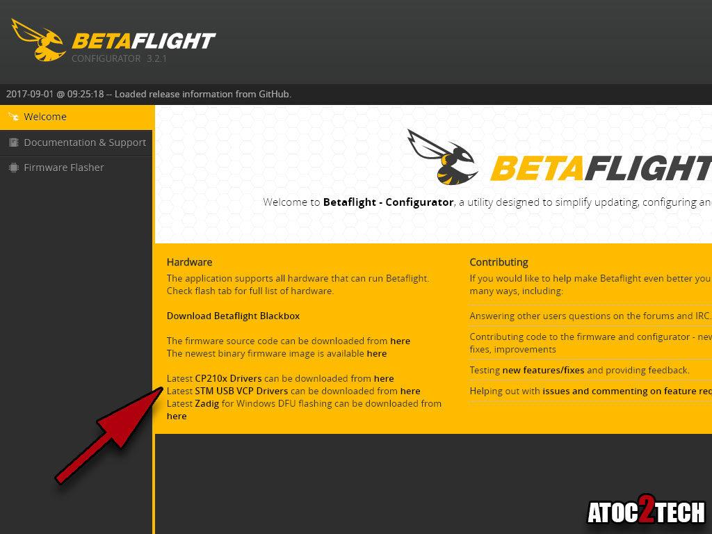 betaflight driver USB