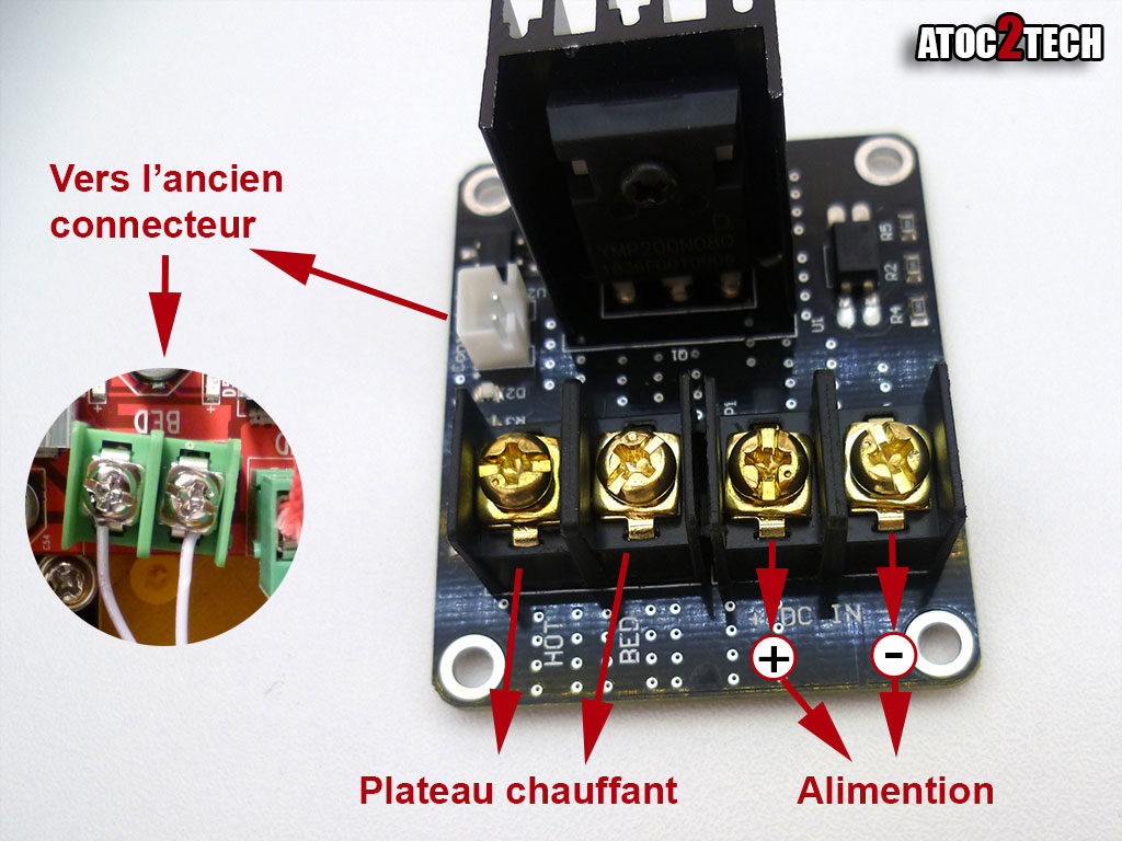 Anet A8 connexion mosfet