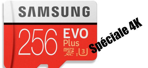 Carte micro SD 256 4K
