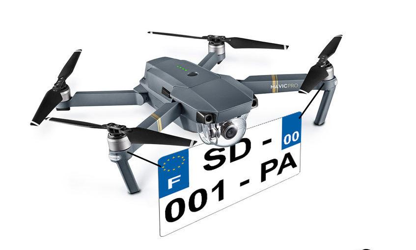 Drone de plus de 800 grammes, immatriculez-vous